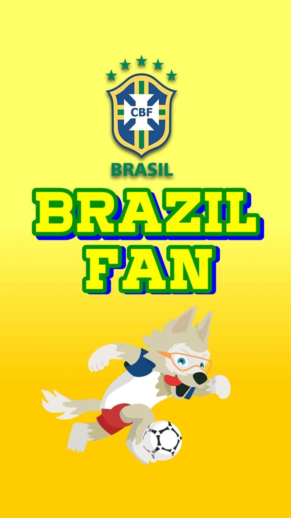 Brazil Fan World Cup 2018 HD Mobile Wallpaper