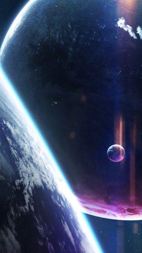 Cosmos Nebula Planets HD Mobile Wallpaper