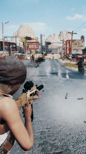 Cross Shooting In Miramar PlayerUnknown's Battlegrounds (PUBG) HD Mobile Wallpaper
