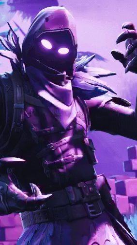 Fortnite's Raven Skin HD Mobile Wallpaper