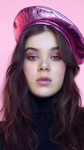 Hailee Steinfeld Pink Background Photoshoot HD Mobile Wallpaper