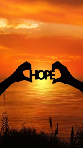 Hope Sunset Hands HD Mobile Wallpaper