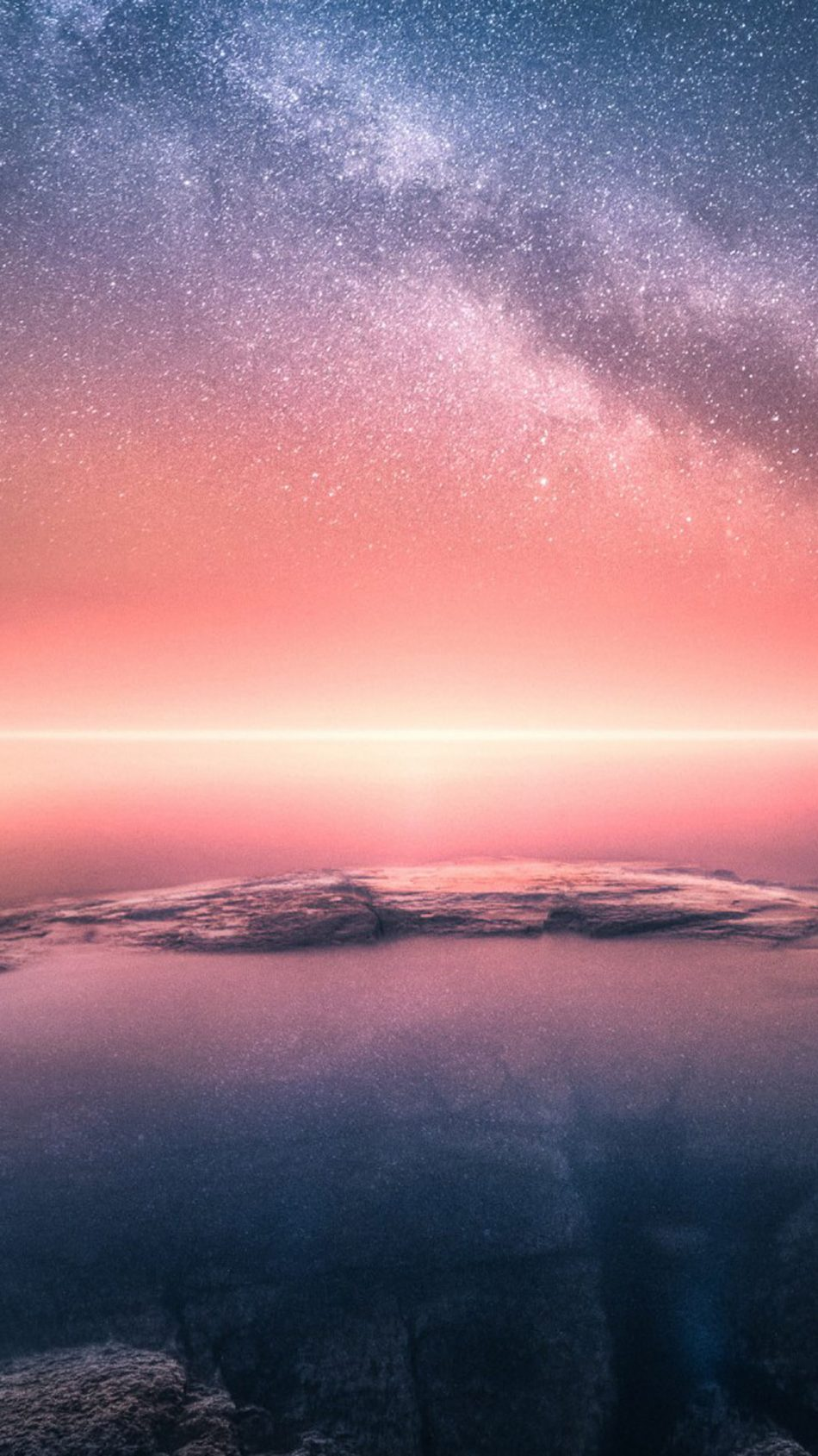 Download Horizon Sunset Starry Sky Collision Edge Free Pure 4K Ultra