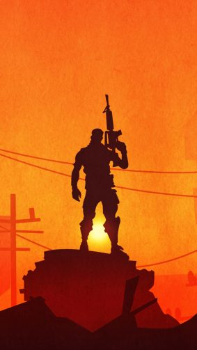 Lone Survivor Fortnite Battle Royale HD Mobile Wallpaper