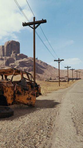 Road To Miramar Desert PlayerUnknown's Battlegrounds (PUBG) HD Mobile Wallpaper