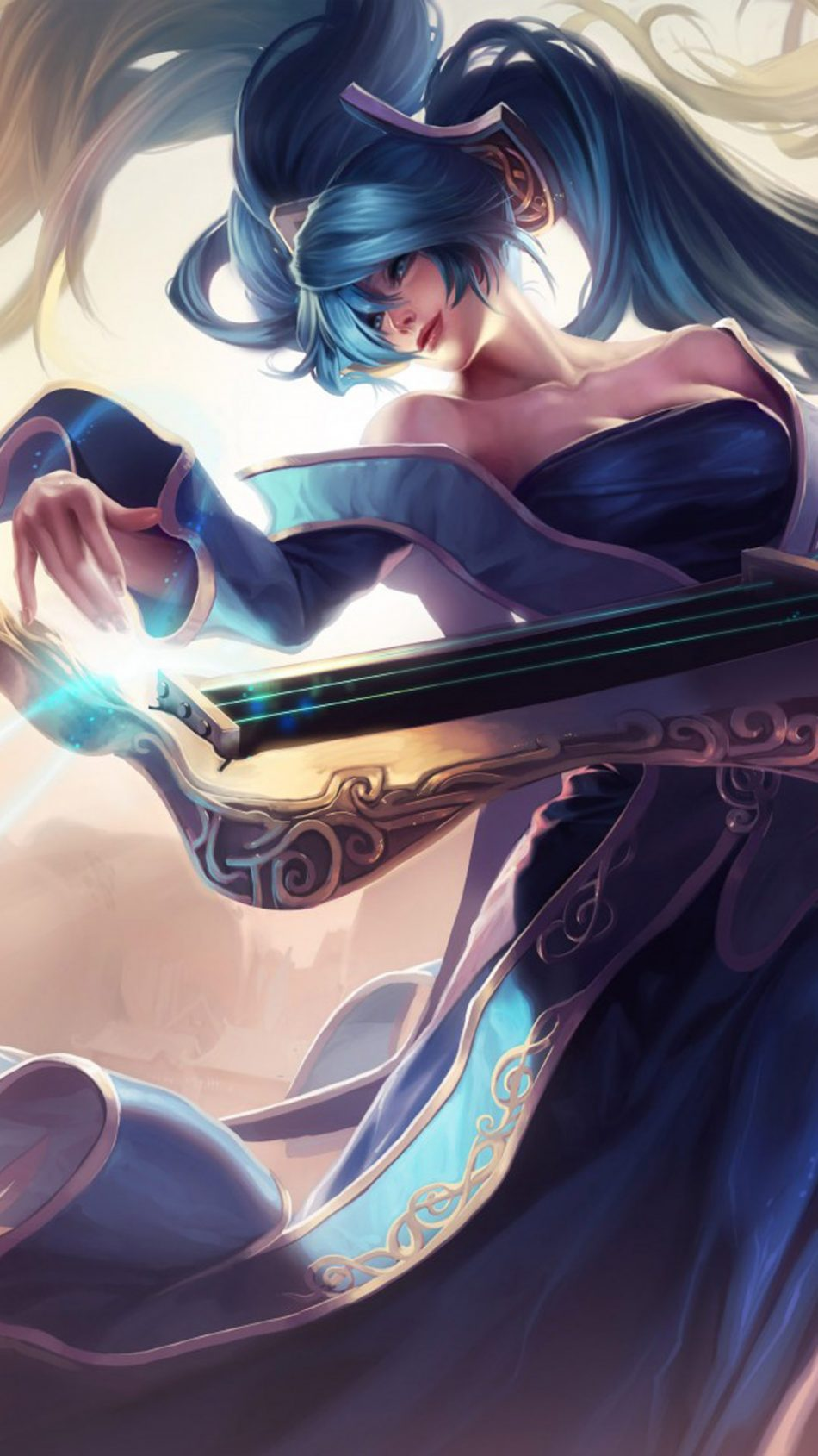 Sona League of Legends HD Mobile Wallpaper