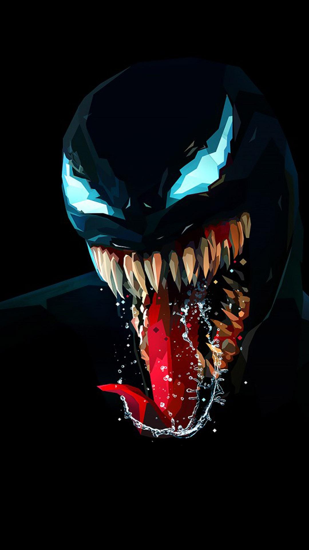 Download Venom Artwork Minimal Dark Background Free Pure 4k Ultra Hd