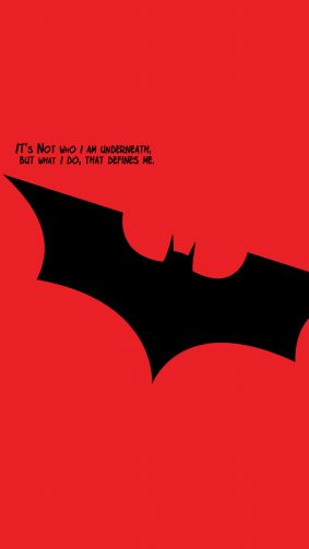 Batman Quotes Minimal Red HD Mobile Wallpaper
