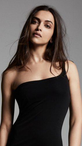 Deepika Padukone Hot Black Dress HD Mobile Wallpaper