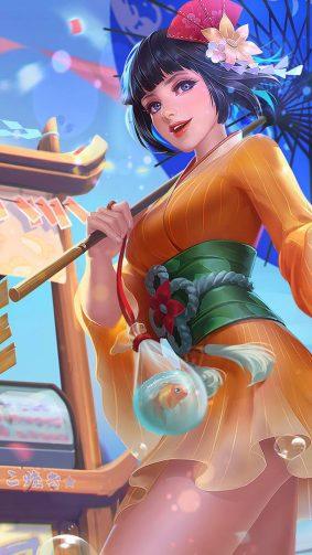 Kagura Summer Festival Mobile Legends HD Mobile Wallpaper