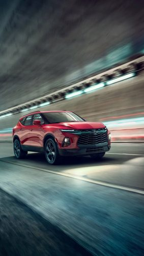 Red Chevrolet Blazer RS Suv HD Mobile Wallpaper