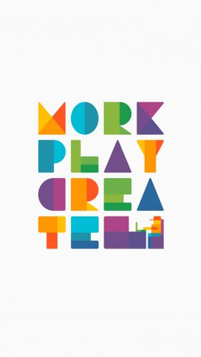 Work Play Create Minimal White Background HD Mobile Wallpaper