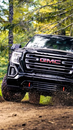 GMC Sierra AT4 Crew Cab Off Roading HD Mobile Wallpaper