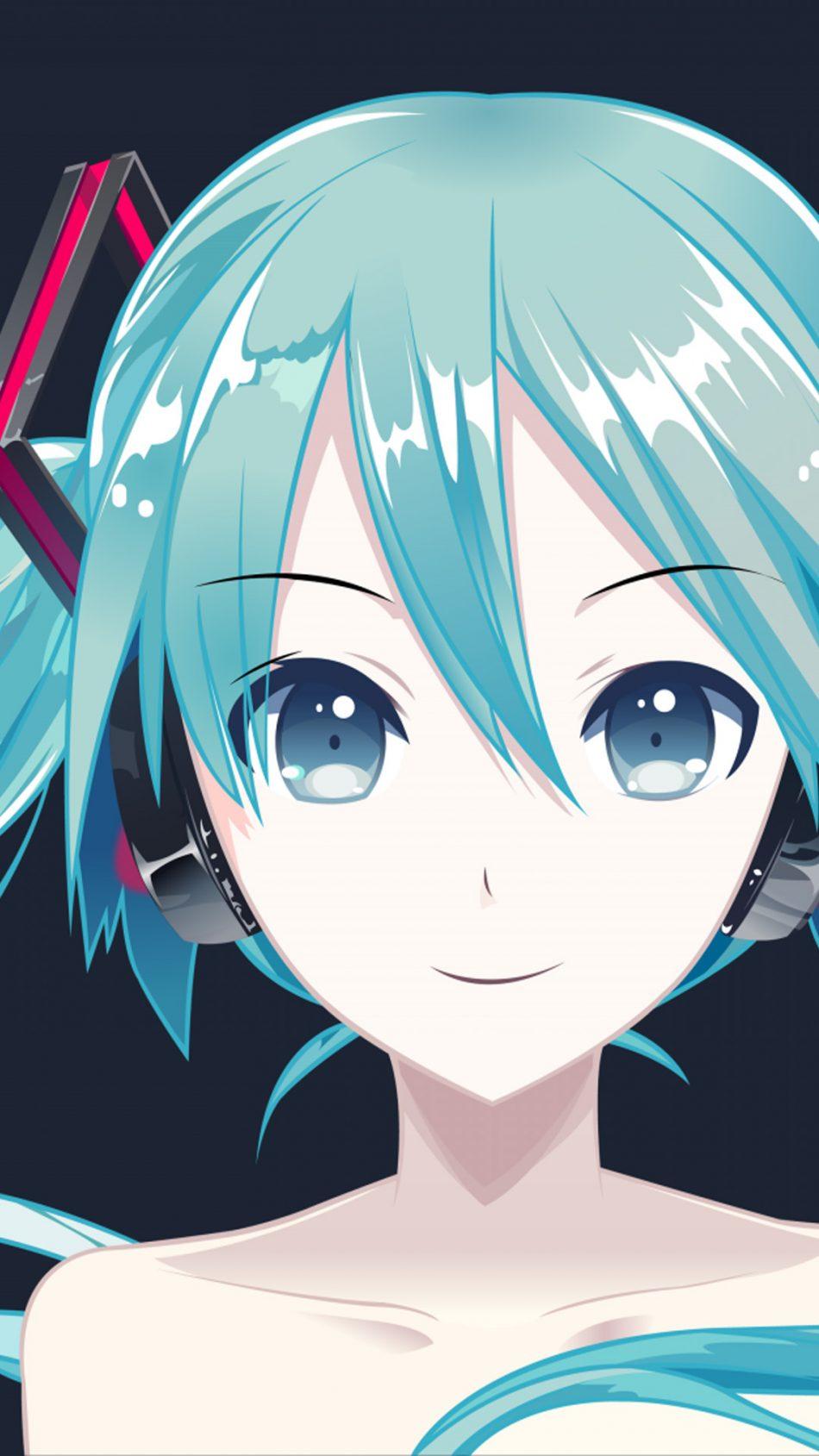 Hatsune Miku Anime Girl HD Mobile Wallpaper