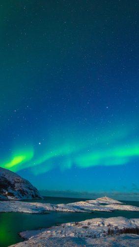 Northern Lights Aurora Borealis Starry Sky Norway HD Mobile Wallpaper