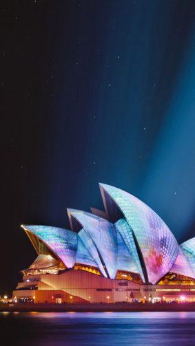 Sydney Opera House Cityscape Night HD Mobile Wallpaper
