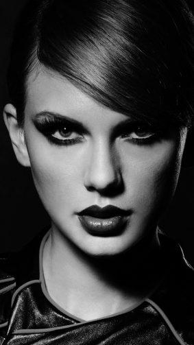 Taylor Swift Portrait Black & White HD Mobile Wallpaper