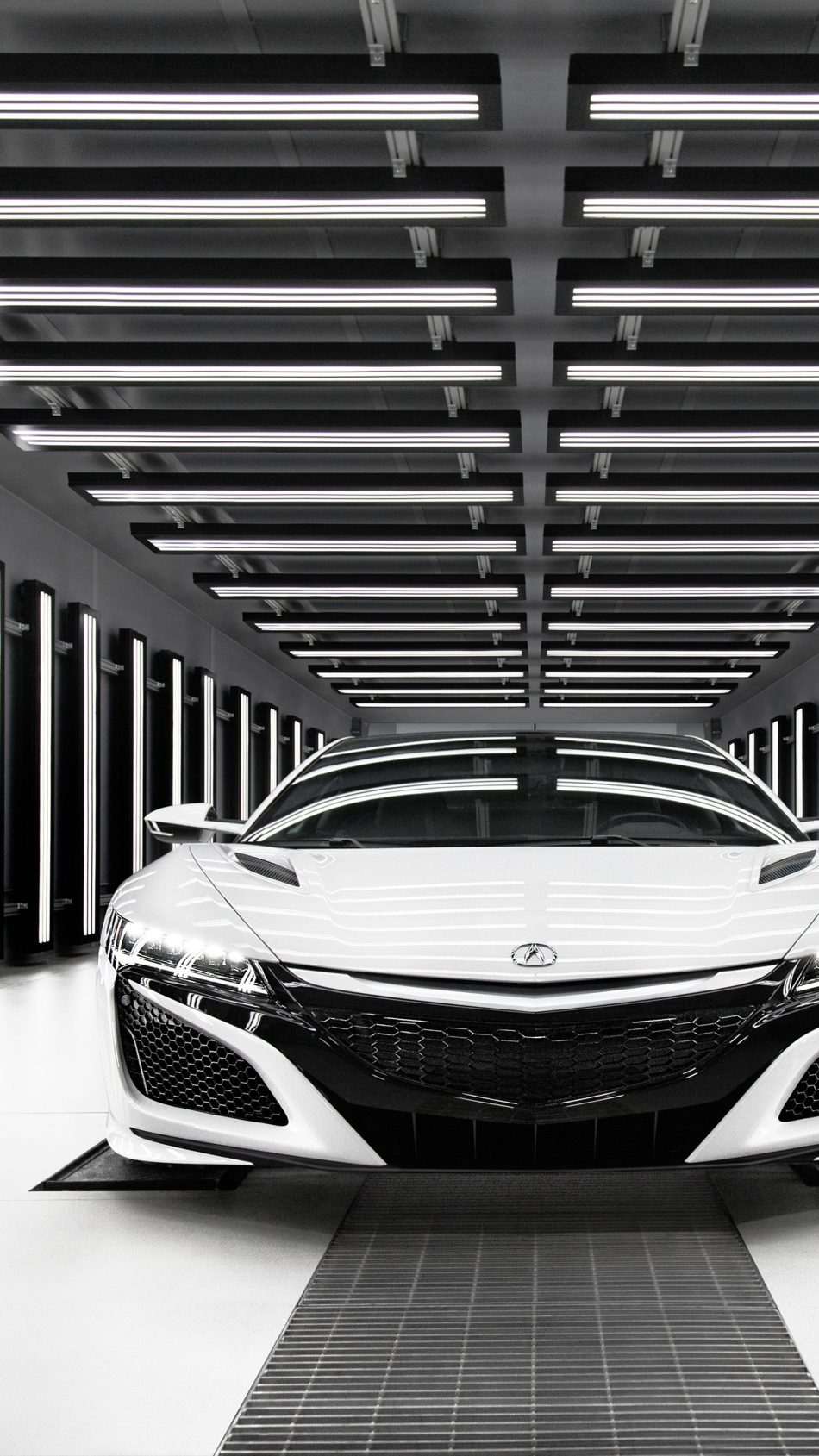 Download Acura NSX White Monochrome Free Pure 4K Ultra HD