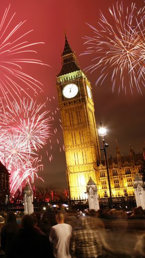 Big Ben London Fireworks 4K Ultra HD Mobile Wallpaper