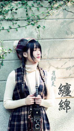 Cute Asian Girl Camera Photoshoot 4K Ultra HD Mobile Wallpaper