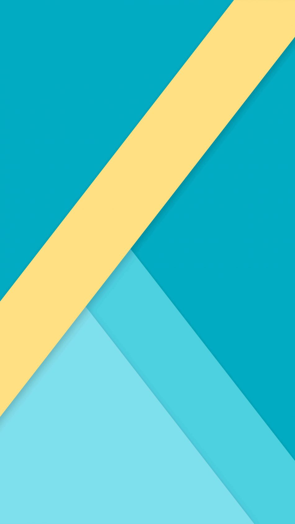 Geometric Blue Yellow 4K Ultra HD Mobile Wallpaper