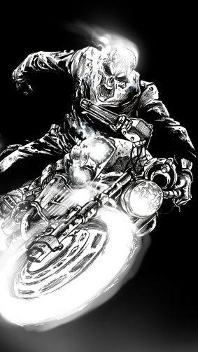 Ghost Rider Black Dark Artwork 4K & Ultra HD Mobile Wallpaper