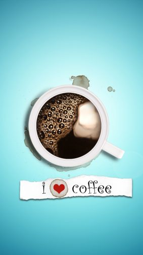 I Love Coffee 4K Ultra HD Mobile Wallpaper