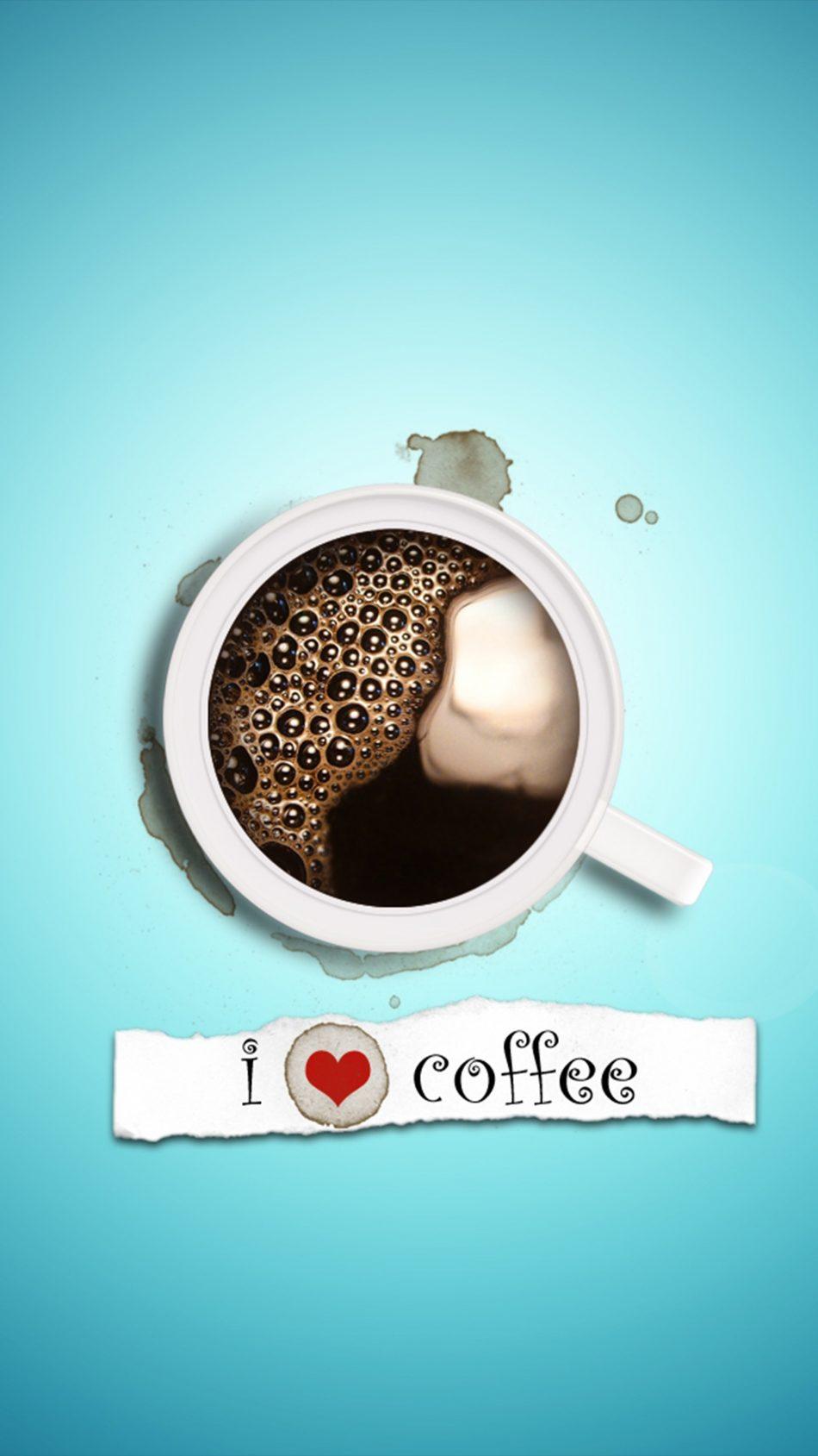 I Love Coffee 4K Ultra HD Mobile Wallpaper