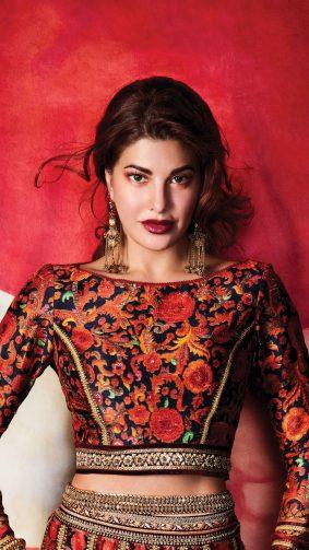 Jacqueline Fernandez Beautiful Indian Traditional Dress 4K Ultra HD Mobile Wallpaper