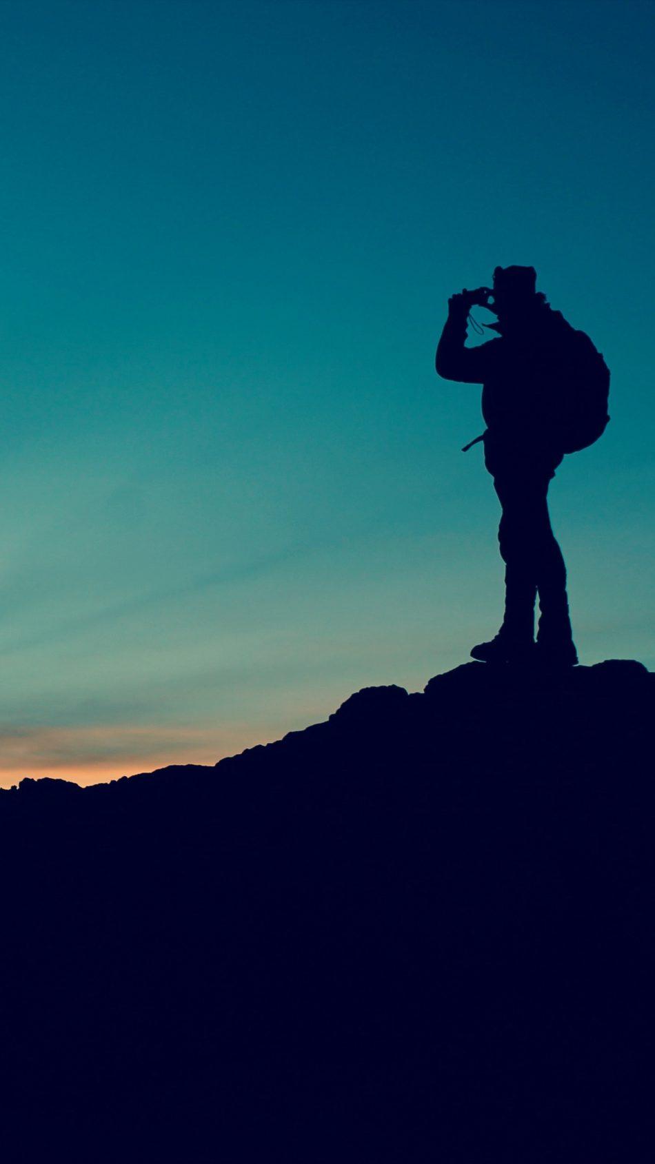 Man Photography Dusk Sunset 4K Ultra HD Mobile Wallpaper