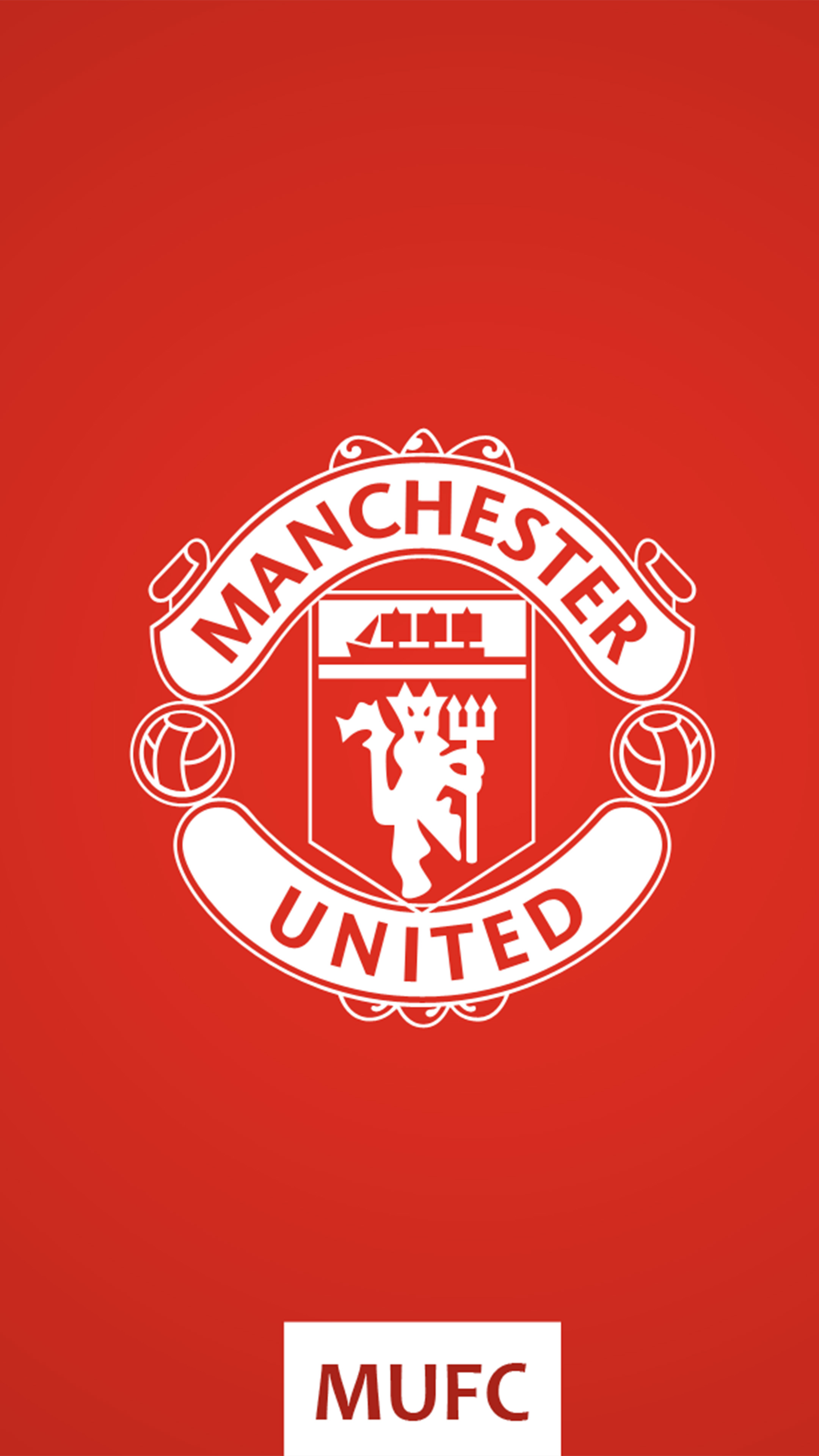 Manchester United Fc Logo Red Background 4k Ultra Hd Mobile Wallpaper