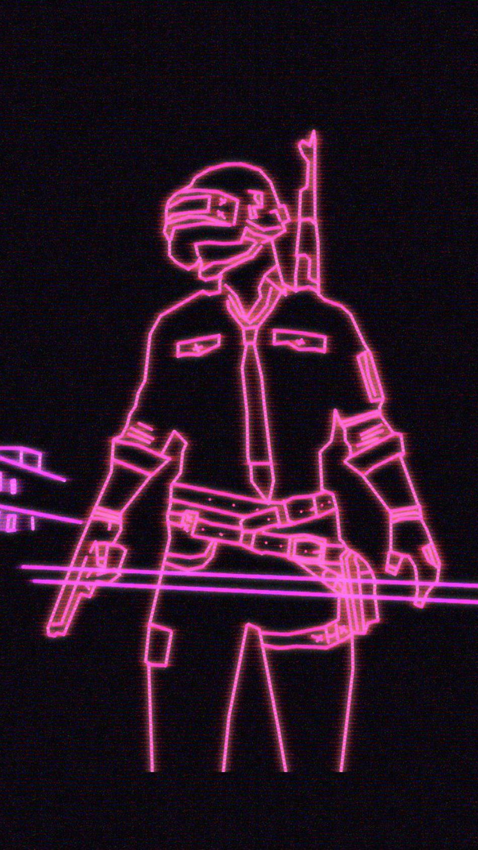 Neon Light PlayerUnknowns Battlegrounds PUBG 4K Ultra HD Mobile Wallpaper