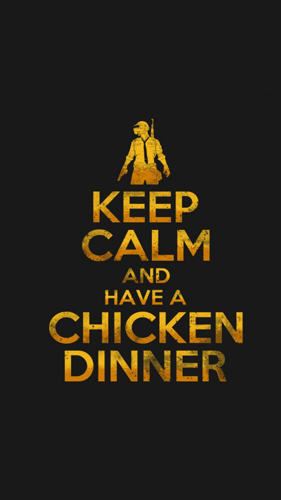 PUBG Keep Calm And Have A Chicken Dinner 4K Ultra HD Mobile Wallpaper