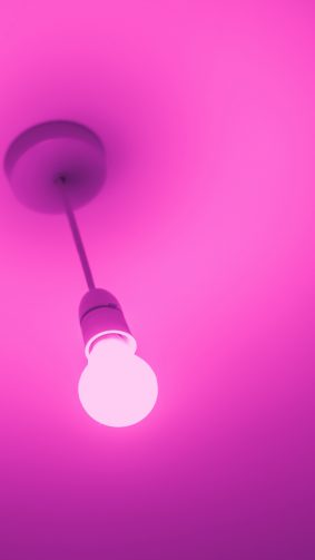 Pink Light Bulb 4K & Ultra HD Mobile Wallpaper