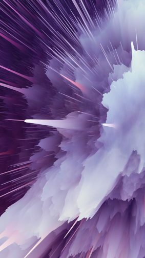 Purple Particle Explosion 4K Ultra HD Mobile Wallpaper