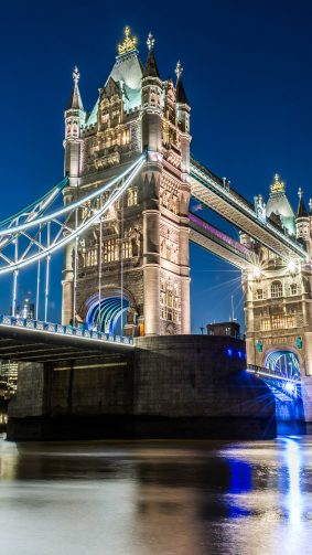 Tower Bridge London Night Photography 4K Ultra HD Mobile Wallpaper