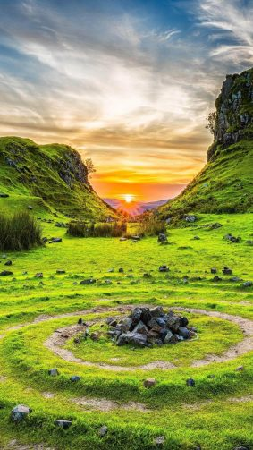 Fairy Glen Isle of Skye Scotland 4K Ultra HD Mobile Wallpaper