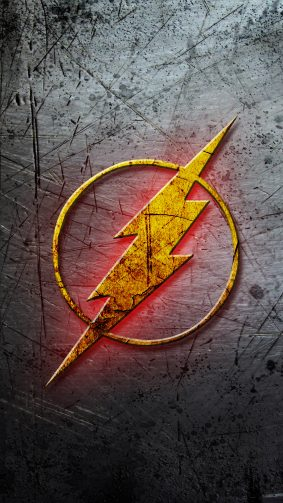 Flash Logo DC Comics 4K Ultra HD Mobile Wallpaper