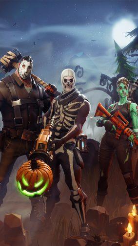 Halloween In Fortnite Battle Royale 4K Ultra HD Mobile Wallpaper