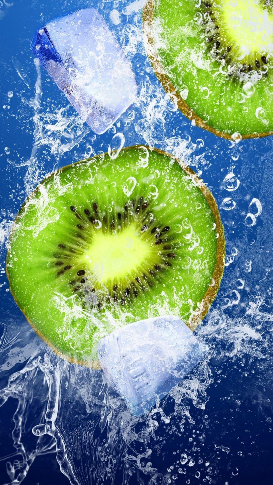 Kiwi Ice Underwater 4K Ultra HD Mobile Wallpaper