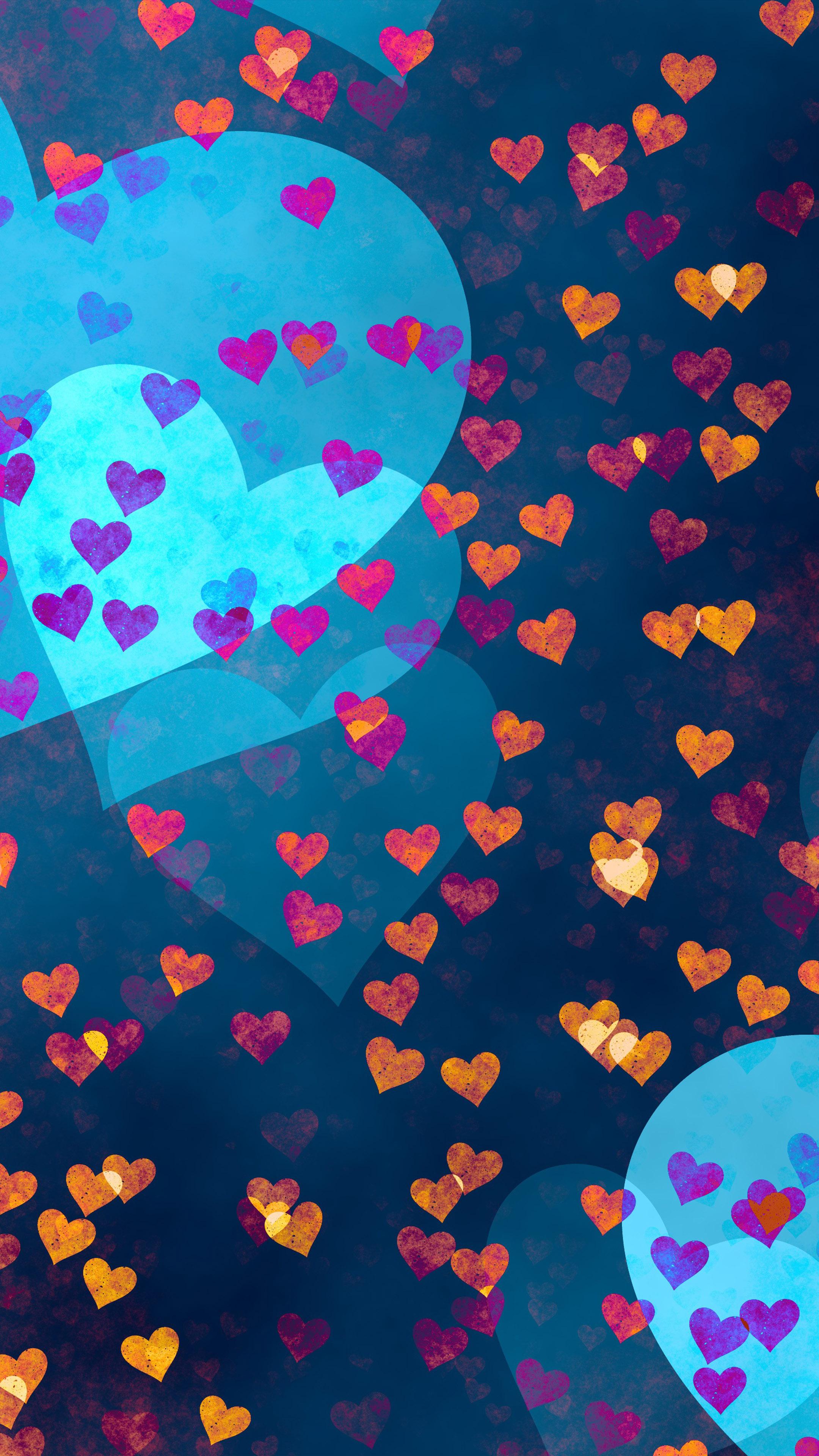 Love Hearts Pattern Free 4K Ultra HD Mobile Wallpaper
