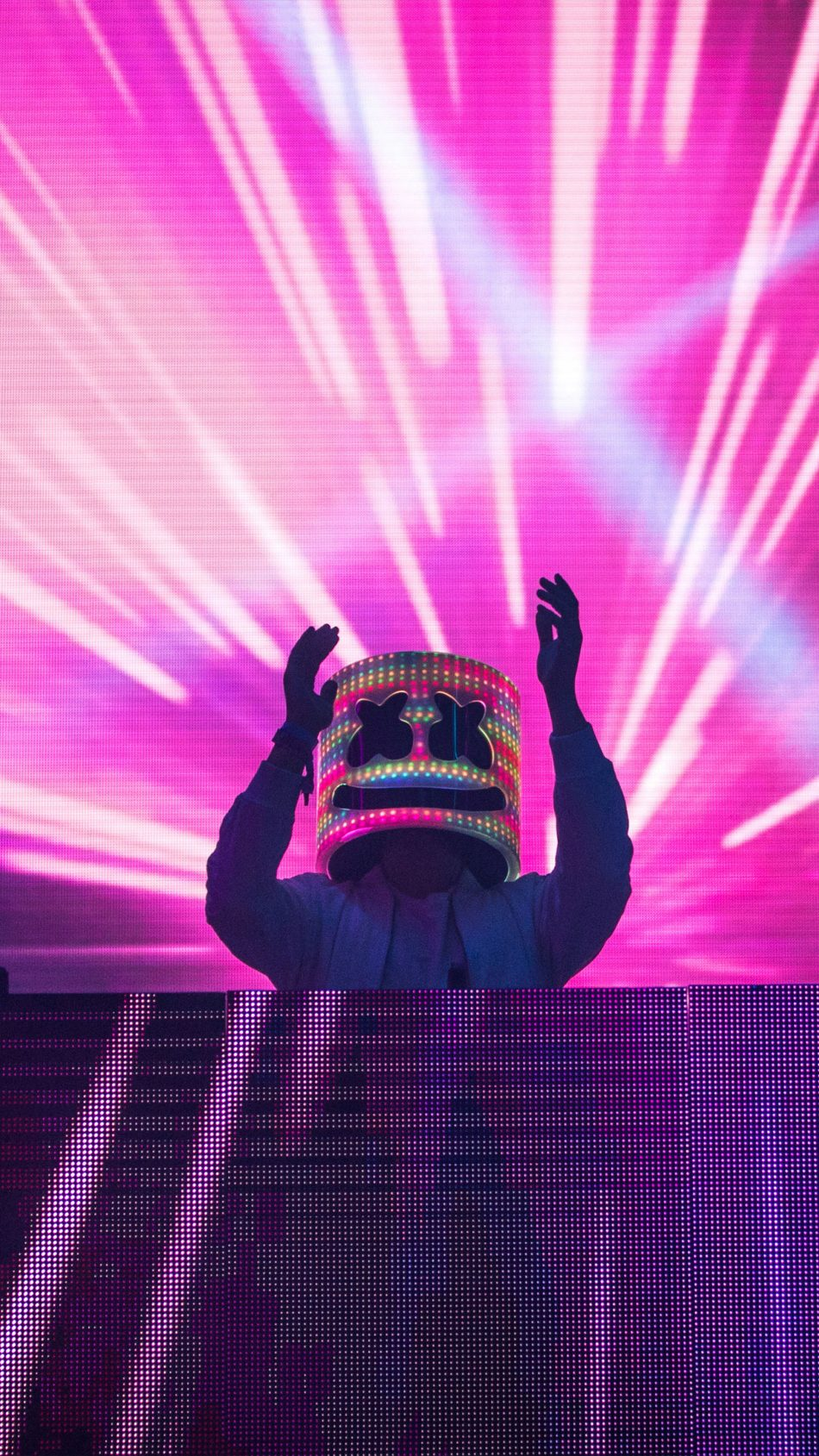 Download Marshmello Neon Lights Live Free Pure 4k Ultra Hd