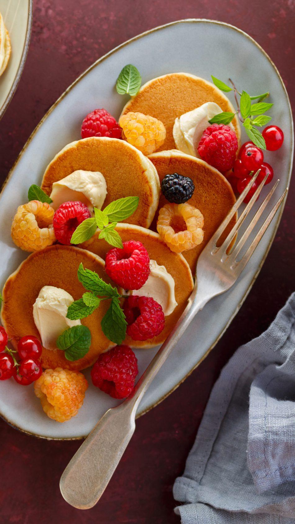Pancake Raspberry Ice Cream 4K Ultra HD Mobile Wallpaper