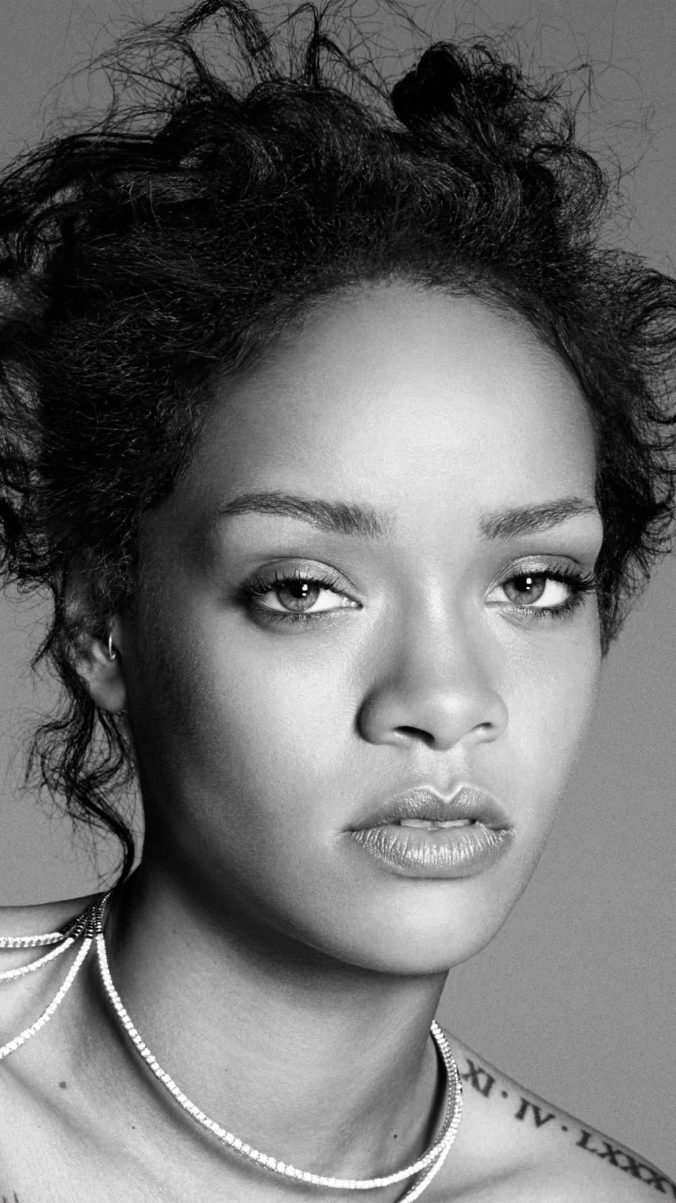 Rihanna Monochrome 2018 4K Ultra HD Mobile Wallpaper