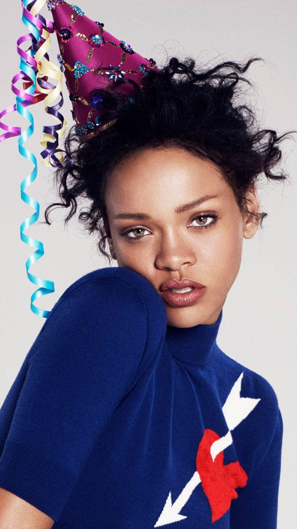 Rihanna Party Hat 4K Ultra HD Mobile Wallpaper