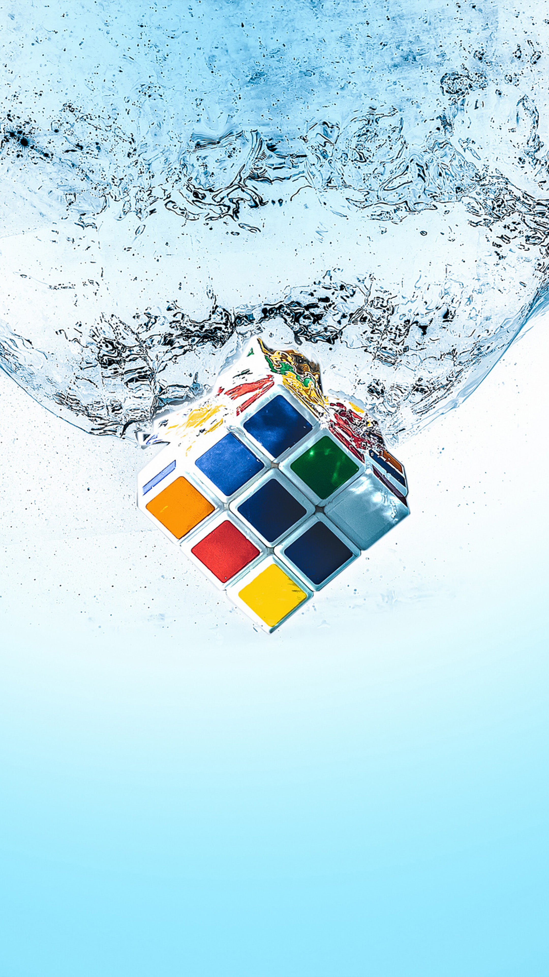 Rubik S Cube Splash Water Free 4k Ultra Hd Mobile Wallpaper