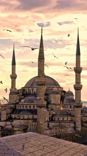 Sultanahmet Mosque Istanbul Turkey 4K Ultra HD Mobile Wallpaper