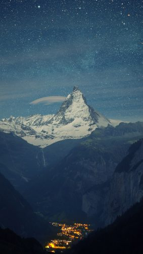 Zermatt Matterhorn Switzerland Night 4K Ultra HD Mobile Wallpaper