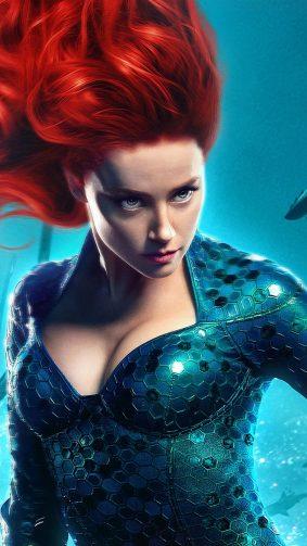 Amber Heard As Mera In Aquaman 2018 4K Ultra HD Mobile Wallpaper