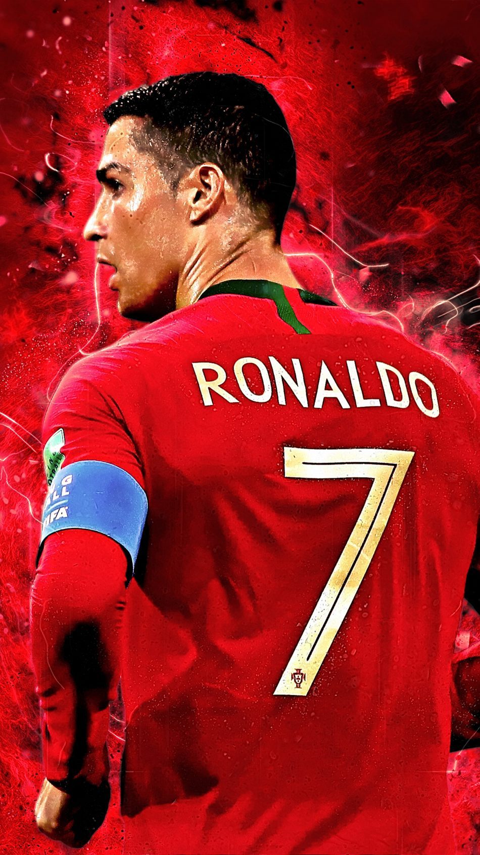 Cristiano Ronaldo Jersey Number 7 4K Ultra HD Mobile Wallpaper
